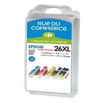Pack de 4 cartouches compatibles Epson T2636 - Ours Polaire