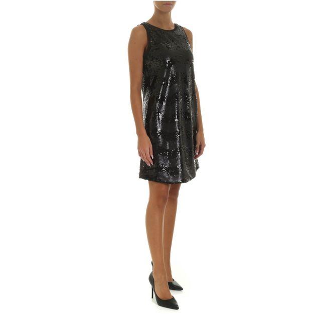 Armani Ea7 Emporio Armani Femme 6G2A722NUQZ0999 Noir Sequins Robe