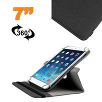 Yonis - Housse universelle tablette 7 pouces support 360° étui Noir
