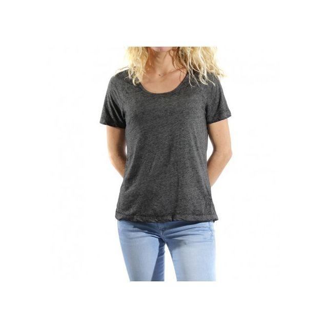 d161610936f27 Deeluxe - Tee Shirt Bernie Gris Femme Noir - pas cher Achat   Vente Tee  shirt homme - RueDuCommerce