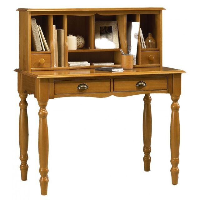 beaux meubles pas chers meuble secr taire bonheur du jour pin miel de style anglais marron. Black Bedroom Furniture Sets. Home Design Ideas