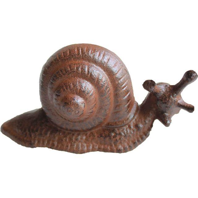 LA GRANDE PRAIRIE Escargot décoratif en fonte 16 cm