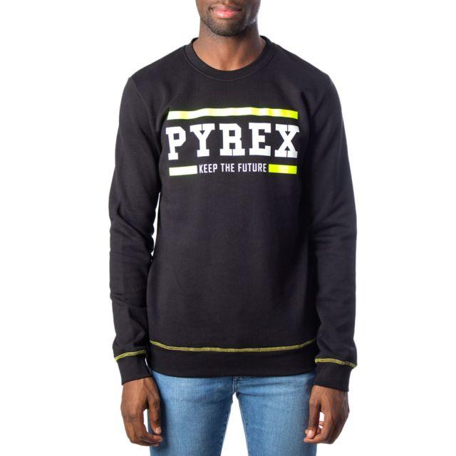 Pyrex Homme 40377BLACK Noir Coton Sweatshirt