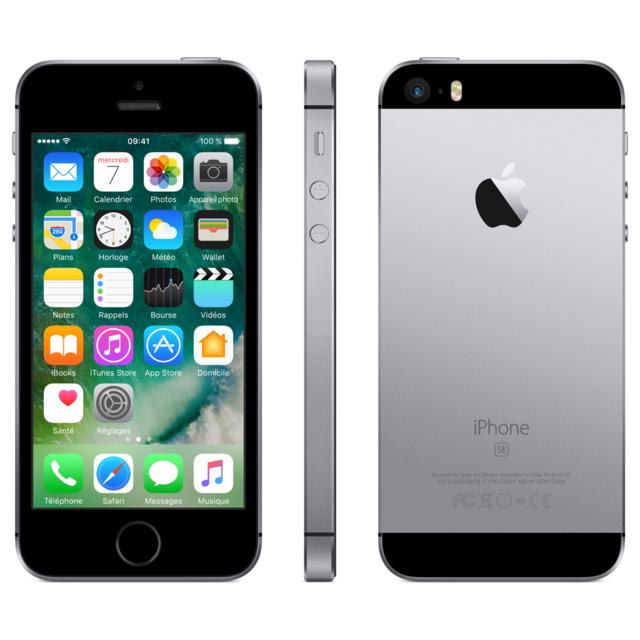 APPLE - iPhone SE - 16 Go - Gris Sidéral - Reconditionné
