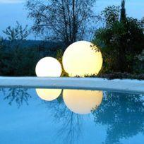 Slide - Globo Out - Lampe d'extérieur Blanc Ø60cm - Luminaire d'extérieur designé par