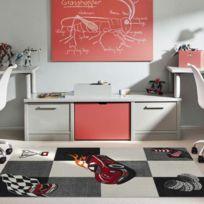 LES TAPIS - Tapis de Salon Moderne Design RACE VOITURE