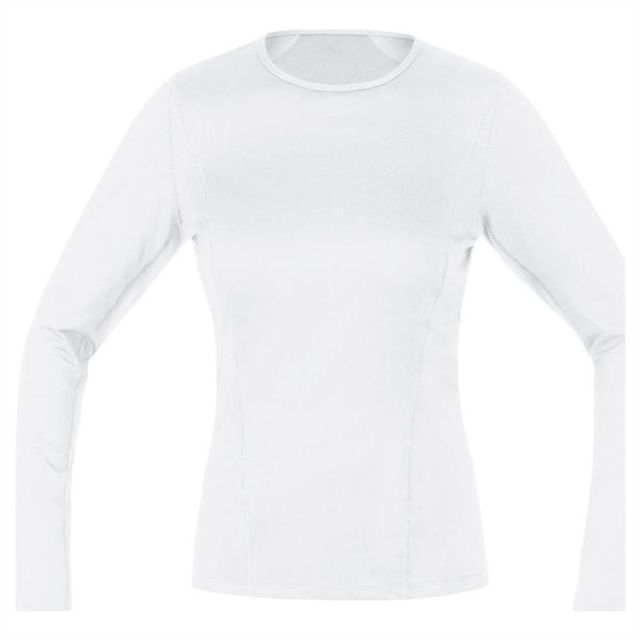 Gore Running Wear Tee shirt thermique Gore Essential Bl Long Blanc Femme 2018