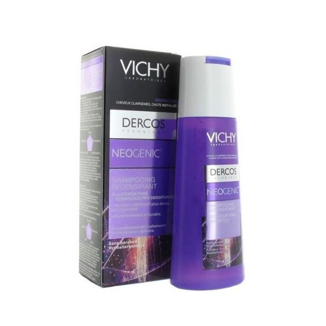 vichy dercos neogenic shampooing redensifiant cheveux clairsem s 200ml pas cher achat. Black Bedroom Furniture Sets. Home Design Ideas