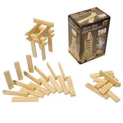 Ose Jeu de construction de 200 planchettes en bois