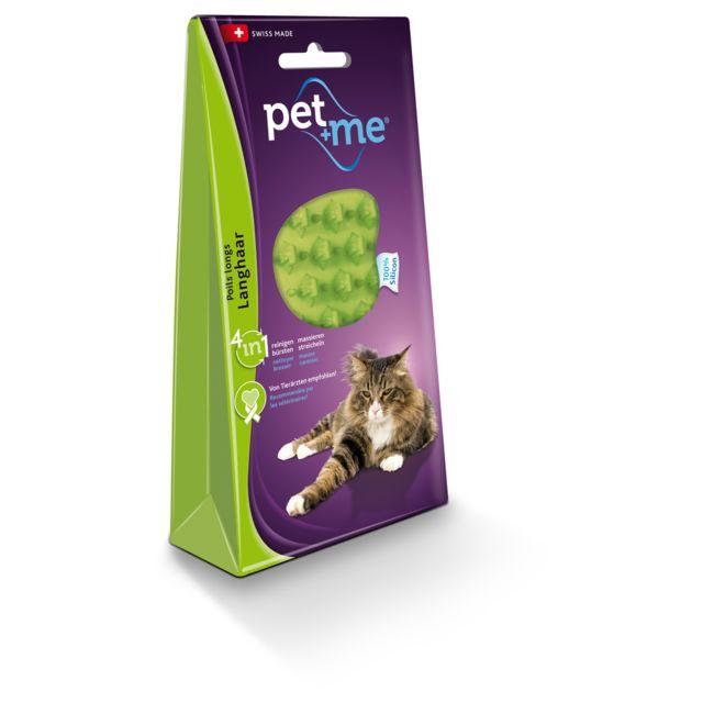 Pet+ME Brosse Poils Longs pour Chat - Pet+Me - Verte