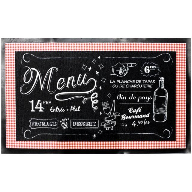 Tapis De Cuisine Déco Bistrot Vintage Menu Du Jour 45 x 70 Cm