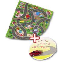 Majorette - Tapis de jeu - Circuit de voitures 70 x 80 cm : Funky town