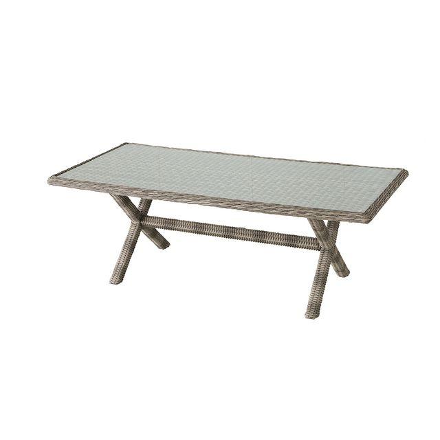 HESPERIDE - Table de jardin Hespéride rectangle en résine tressée ...