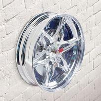 Totalcadeau - Horloge Murale Jante Automobile à led bleue