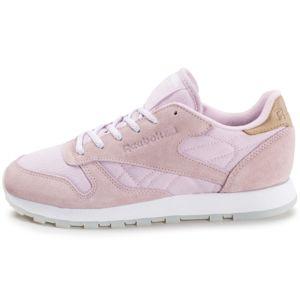 Reebok Sport CL Lthr Sea Worn Rose - Chaussures Baskets basses Femme