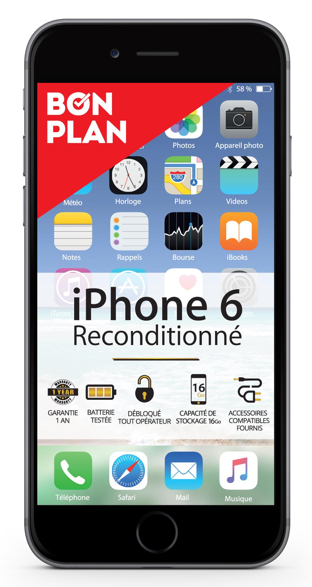 iPhone 6S - 16 Go - Gold - Reconditionné