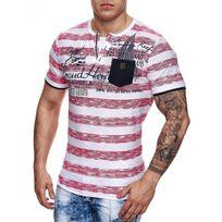 Marque Generique - Tee-shirt moderne homme Tee shirt 2954 rose