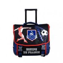 Fédération Française de Football - Fff - Equipe de France Cartable à roulettes scolaire école enfant garçon sac à dos trolley