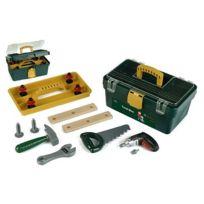 Klein - Caisse à outils Bosch avec visseuse/dévisseuse Ixolino à piles et autres outils