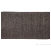 House Bay - Tapis sisal gris avec ganse en coton anthracite Natural Touch