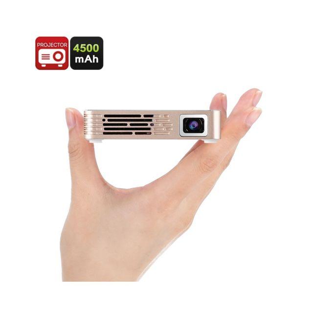 Auto-hightech Mini projecteur lumens, prise en charge 1080p, Hdmi, Usb, haut-parleur intégré, prise audio 3,5 mm Linux