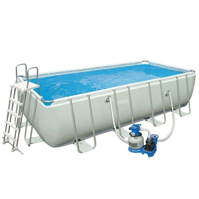 piscine tubulaire carree 1 22 x 1 22 x 0 30 m - intex