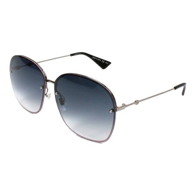 Gucci - Lunettes de soleil Gg-0228-S 004 Femme Violet - pas cher Achat    Vente Lunettes Tendance - RueDuCommerce 55d10bd8f3c0