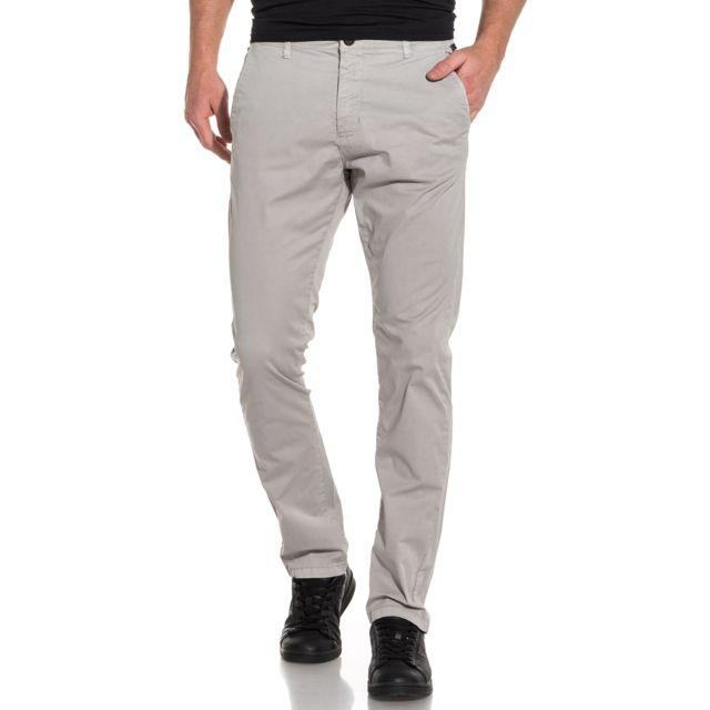 c950fd7817336 Pantalon chino homme gris clair