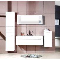 Concept Usine - Agathe Blanc : ensemble salle de bain 3 meubles + 1 vasque + 1 miroir