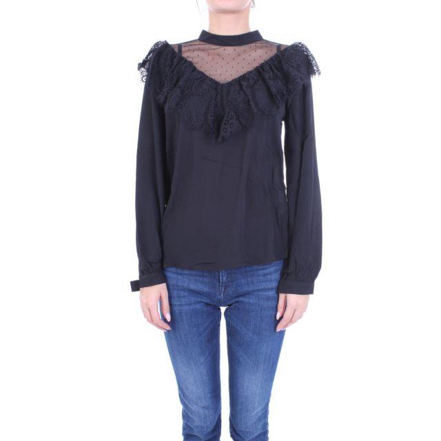 Molly Bracken Femme G619A19BLACK Noir Polyester Blouse