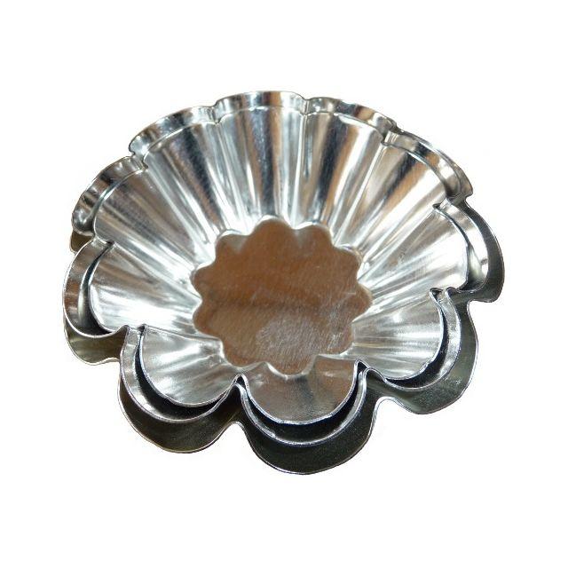 Guery Moule à brioche 10 côtes fer blanc 7.5 cm