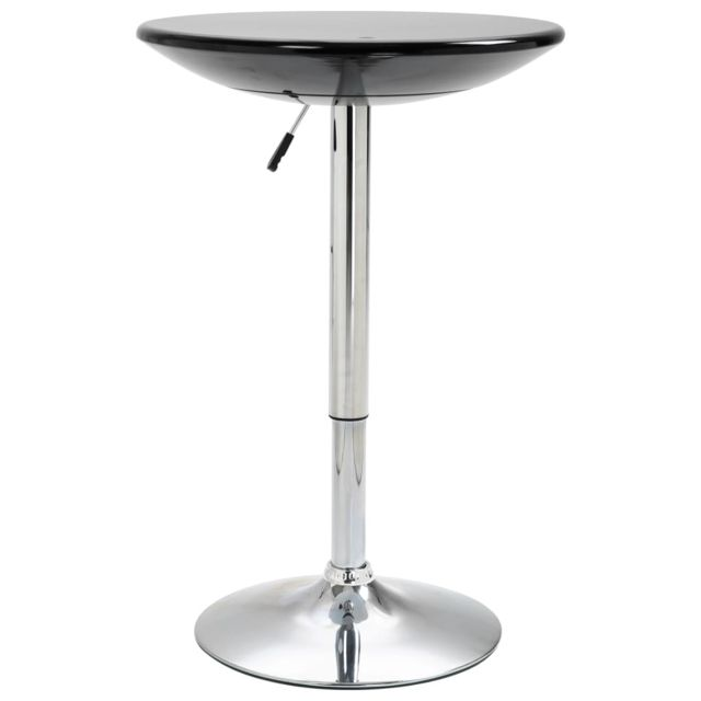 Chic Tables edition Kinshasa Table de bar Noir Ø60 cm ABS