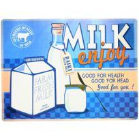 Promobo - Set de Table Pub Vintage Usa Lait Maison Milk Enjoy