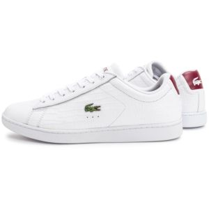 Lacoste - Carnaby Evo Croc Blanche Bordeaux