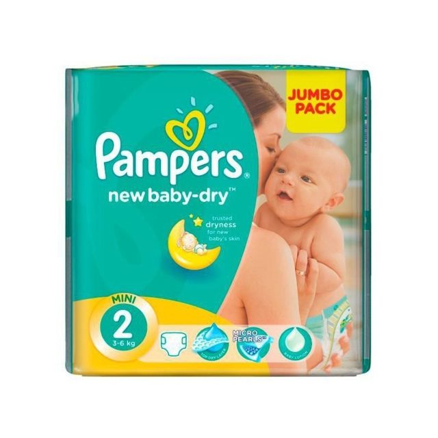 Marque generique paquet 68 couches pampers new baby dry taille 2 pas cher achat vente - Couches pampers baby dry taille 2 ...