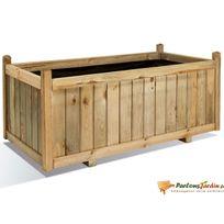 JARDIPOLYS - Jardinière rectangulaire en bois maxi volume Vendôme 120