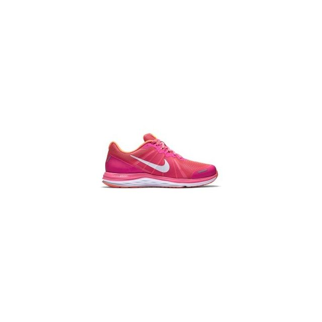Nike Chaussures Dual Fusion X2 rose orange femme pas cher Achat