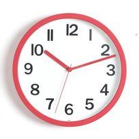 "Paris Prix - Horloge Murale ""Colors"" 22cm Rouge"