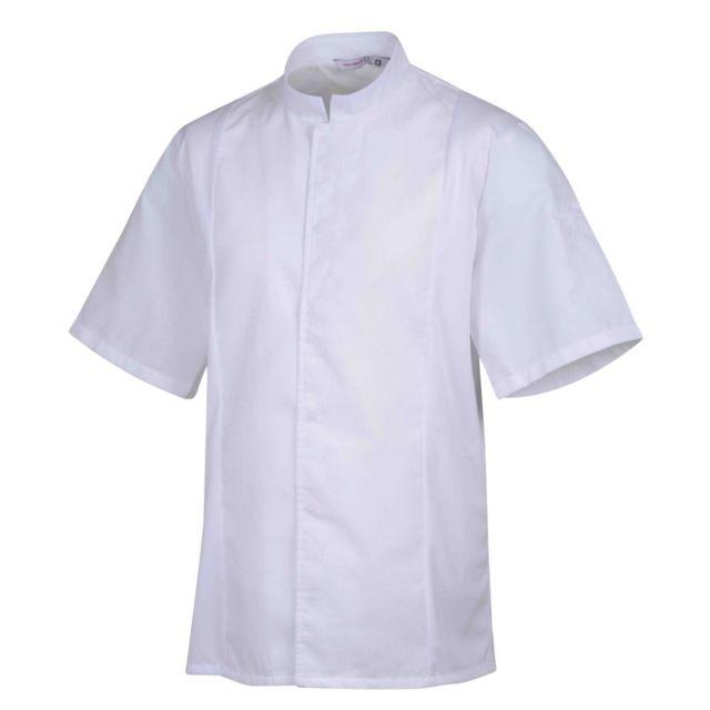 Robur Veste de cuisine mixte col éponge manches courtes Siaka