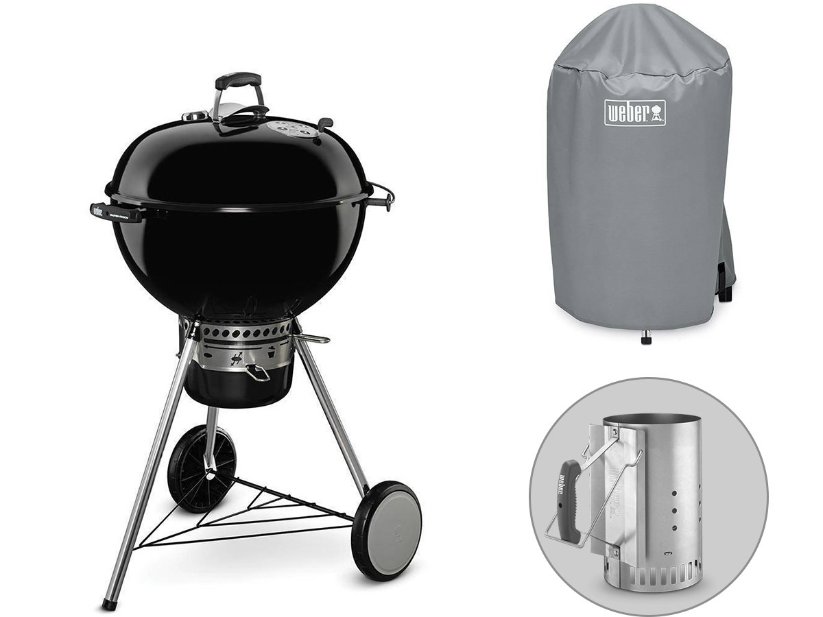 Barbecue Master Touch GBS 57 cm + Cheminée d'allumage + Housse