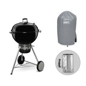 Weber - Barbecue Master Touch GBS 57 cm + Cheminée d'allumage + Housse