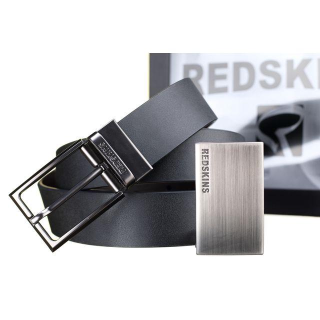 37874e12e5a2 Redskins - Ceinture Coffret Classe Reversible Noir Marron - pas cher Achat    Vente Ceinture homme - RueDuCommerce
