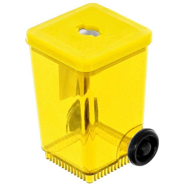 Taille Crayon Forme Poubelle Conteneur Avec Réservoir Jaune