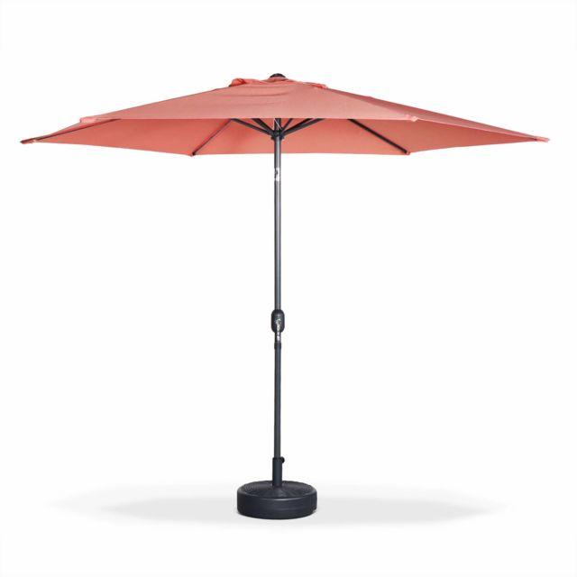 alice 39 s garden parasol droit rond 300cm touquet p che. Black Bedroom Furniture Sets. Home Design Ideas