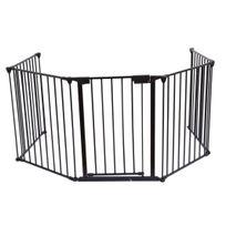 Bcelec - Barrière de sécurité grille de protection pour enfants pour cheminée et escaliers longeur totale 3 mètres