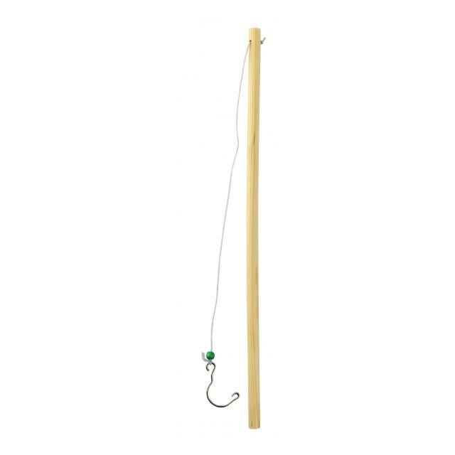 Sans Canne a pêche en Bois 34 cm Kermesse Canard