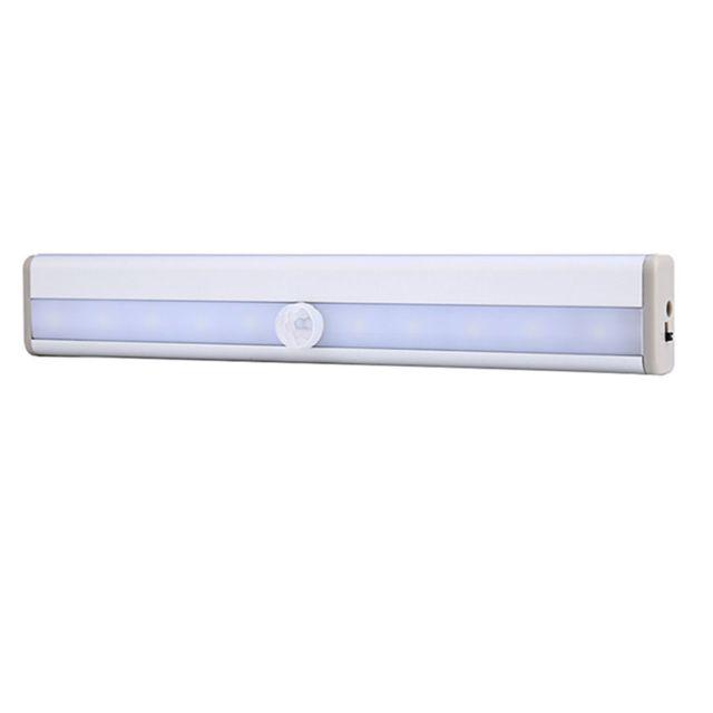 Led Sans Fil Pir Auto Motion Sensor Infrarouge Nuit Lumière Cabinet Escalier Lampe
