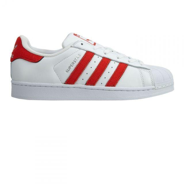 0294381d909b Adidas originals - Chaussures Superstar Blanc Rouge - pas cher Achat ...