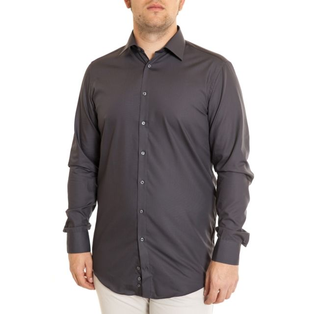 Venti Chemise gris anthracite manches extra longues