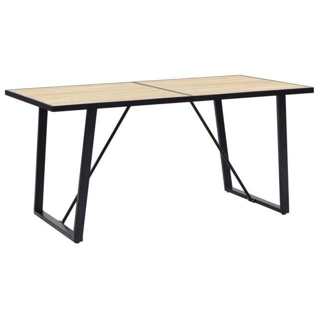 Vidaxl Table de Salle à Manger 160x80x75 cm Mdf Dîner Cuisine Repas Maison